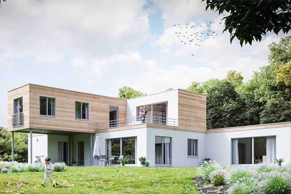 Maison cl sur porte california modulart for Modele maison 2018