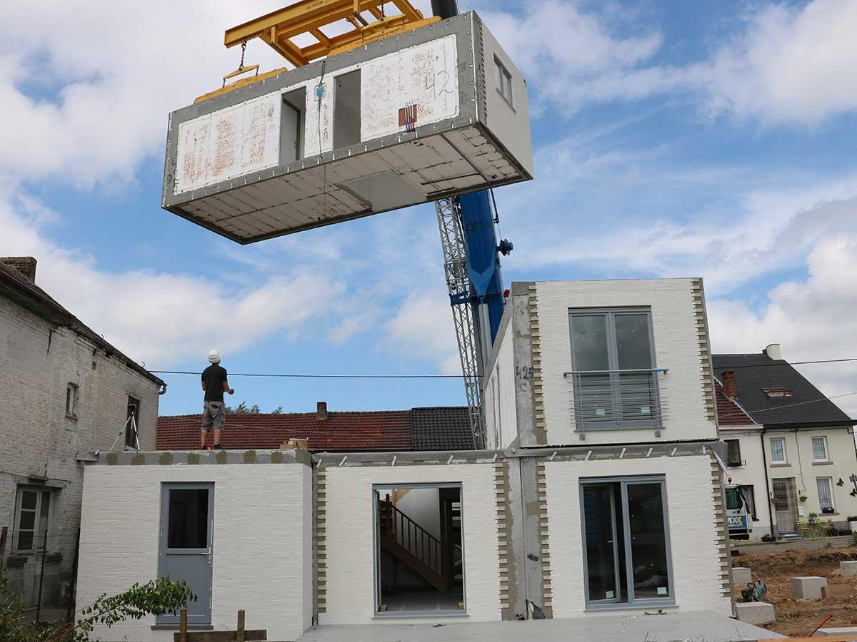 un syst me unique de maison modulaire en b ton modulart. Black Bedroom Furniture Sets. Home Design Ideas